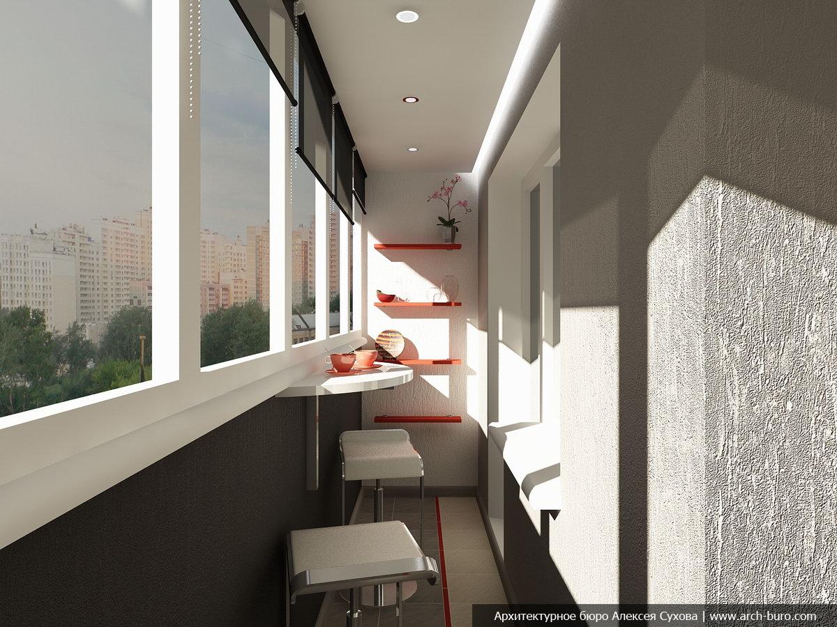 Оформление балкона при помощи обоев: стильные варианты отдел.