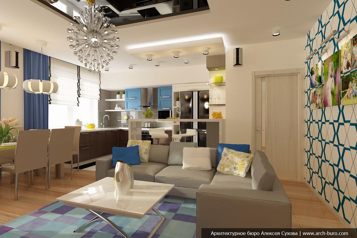 Дизайн двухуровневой квартиры в Екатеринбурге
