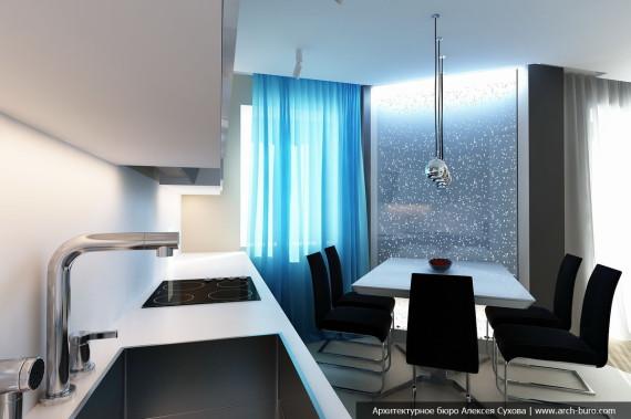 объединение кухни с гостиной в квартире
