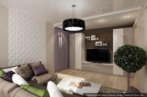 Типовая гостиная в квартире