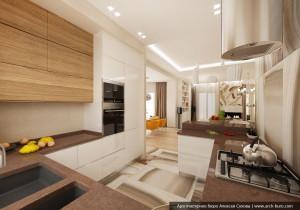 Кухня в дизайне коттеджа г. Орёл
