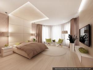 Дизайн спальни в интерьерах коттеджа г. Орел