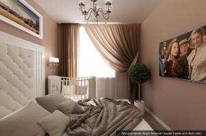 Спальня родителей. Дизайн 3 комнатной квартиры