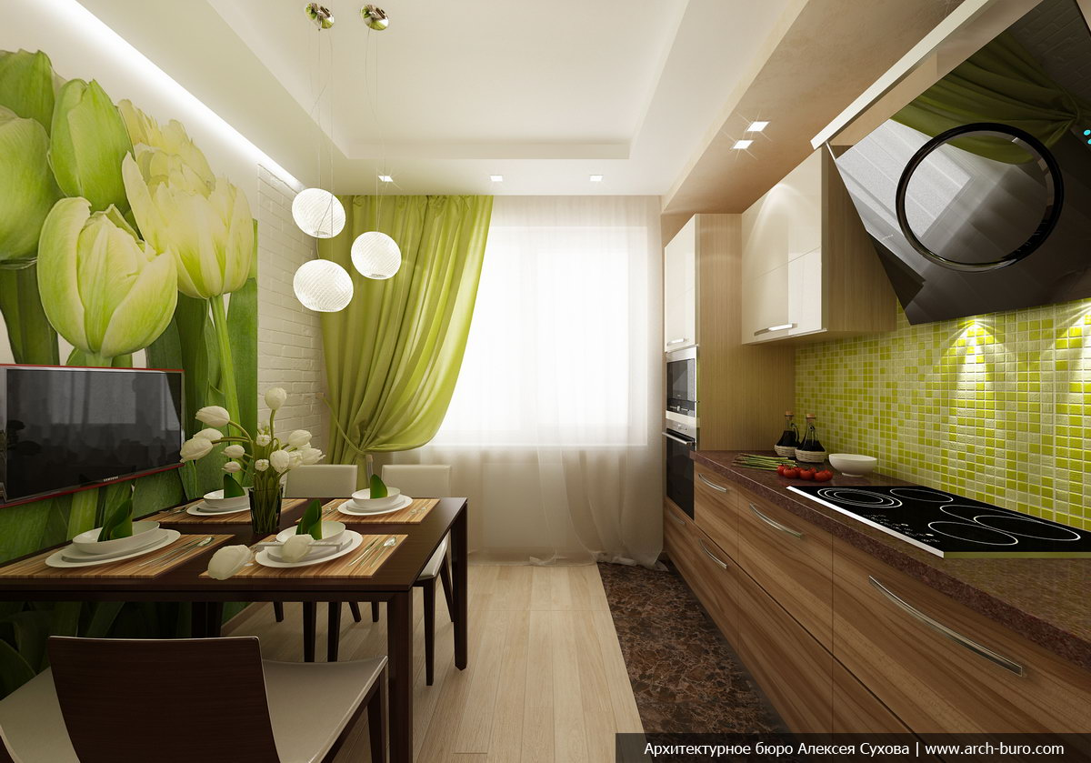 Дизайн кухни 16 кв м в современном стиле