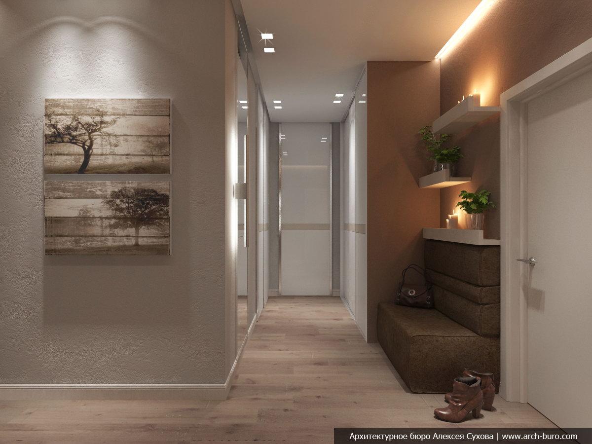 Дизайн коридора в современном стиле фото
