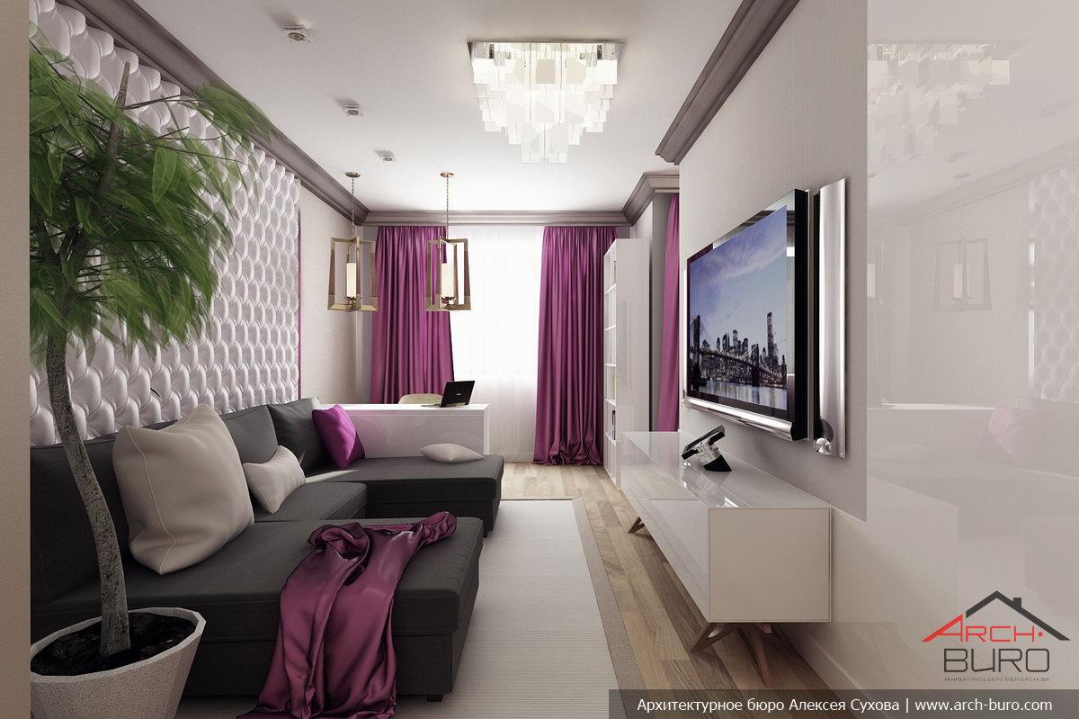 дизайн интерьера зала 18 кв.м фото