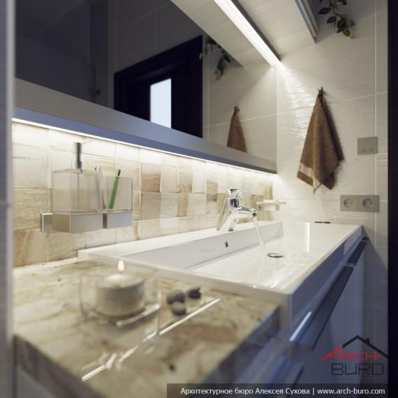 Дизайн душевой комнаты в коттедже Уфа