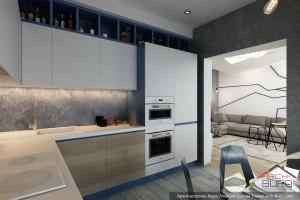 Интерьер кухни-столовой. Дизайн Квартиры в Красногорске
