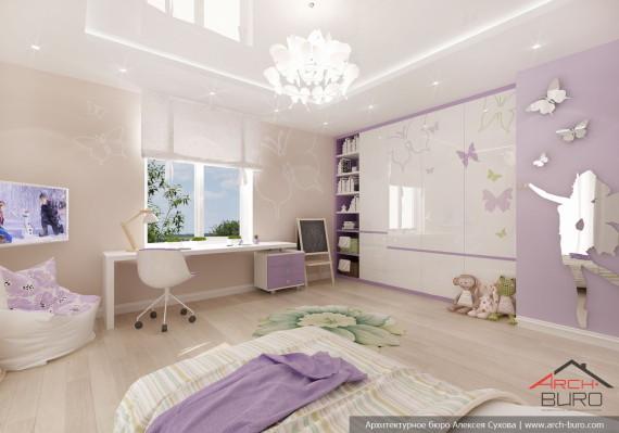 Петербург. Дизайн интерьера комнаты девочки