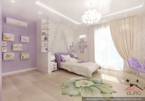 Санкт-Петербург. Дизайн комнаты девочки
