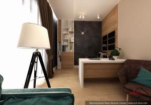 Кабинет. Дизайн проект интерьера дома