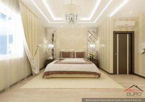 Дом 3 этажный в Петербурге. Дизайн спальни