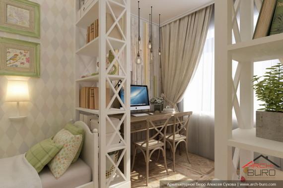 Квартира в г.Якутск детская спальня двух младших дочерей