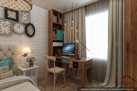 Услуги дизайнера в Якутске. Спальня старшей дочери