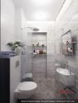 Дизайн интерьера туалета и душевой. Ереван, Армения