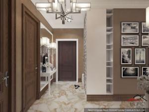 Квартира в Ереване. Интерьер гостиной-кухни-столовой