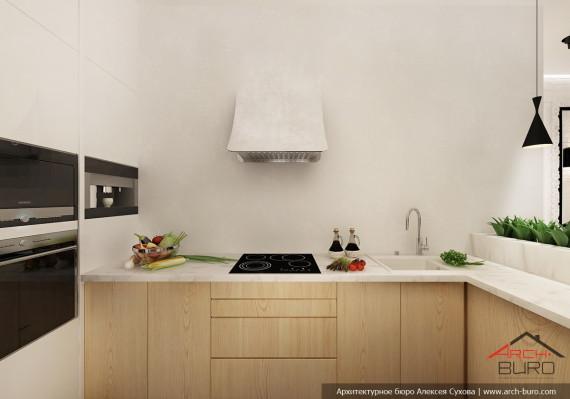 Дизайн квартиры в Астане. Казахстан. Интерьер кухни