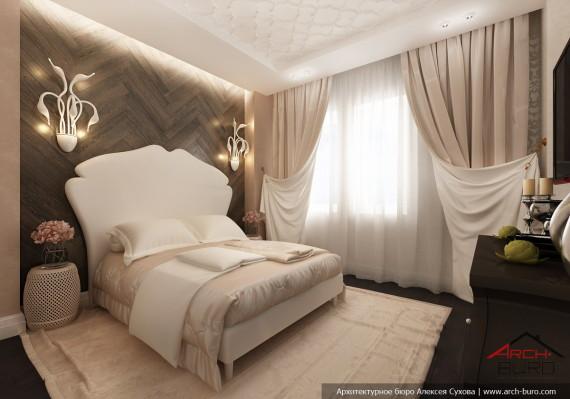 Дизайн квартиры в Астане. Казахстан. Интерьер гостевой спальни