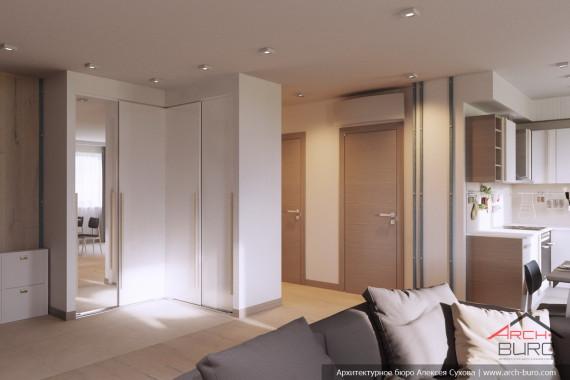 Качественный современный интерьер квартиры. Прихожая