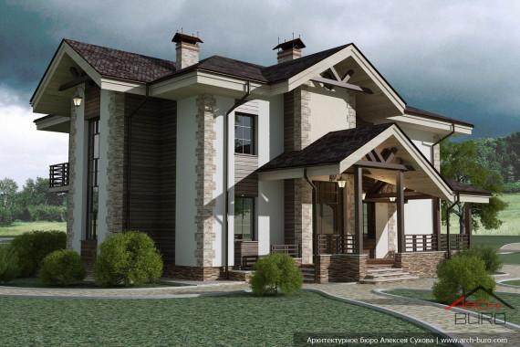 Проект 2 этажного дома