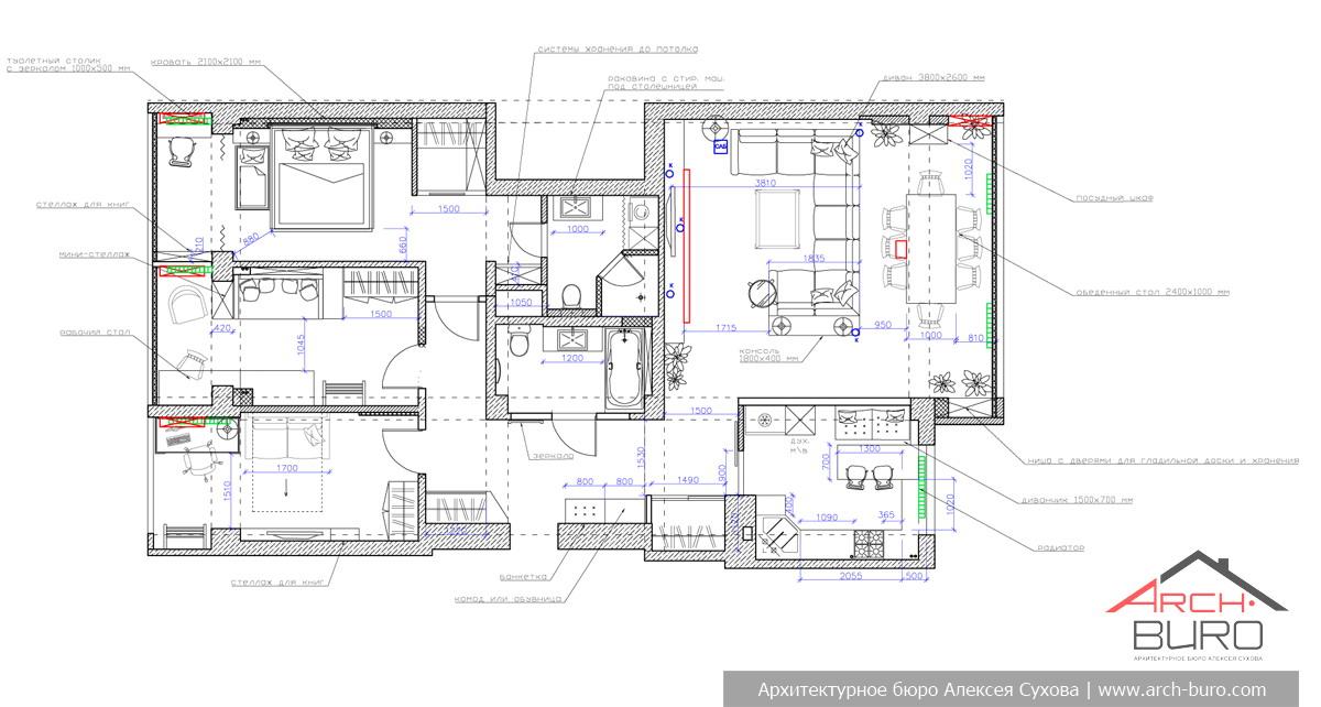 Дизайн квартиры ташкентской планировки