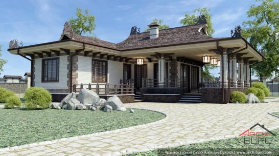 Проект гостевого дома в китайском стиле