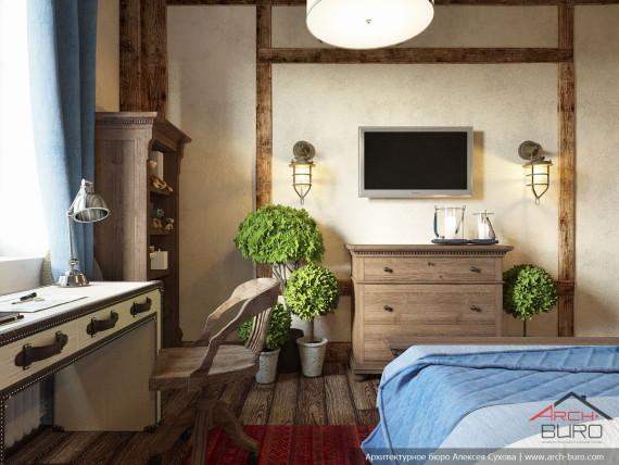 Квартира на Мосфильмовской. Дизайн комнаты мальчика