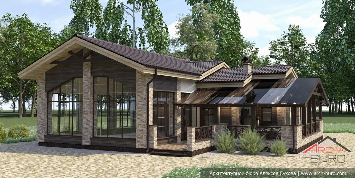 Дизайн проект дома с баней