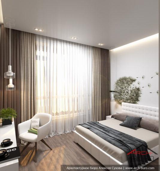 Функциональный интерьер спальни в г. Химки