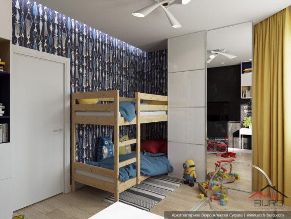 Перепланировка квартиры. Комната для 2-х мальчиков